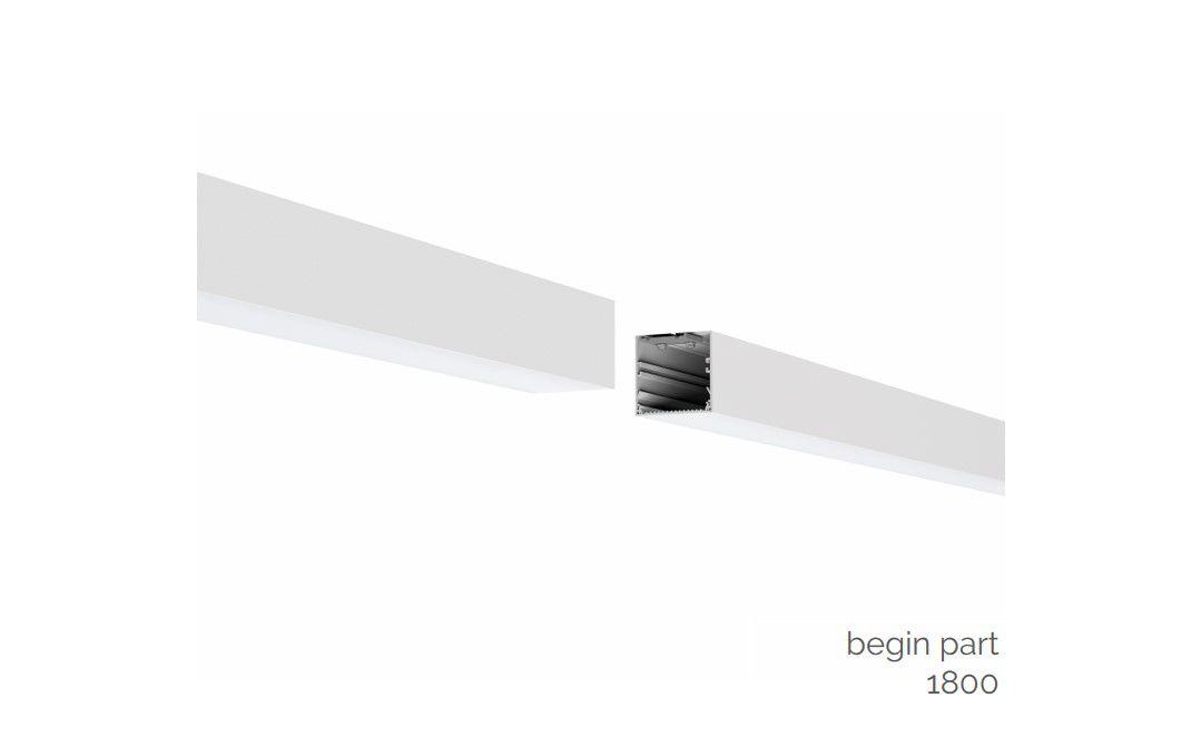 gaudi 70 lijnverlichting startdeel gependeld 1800mm 3000k 6457lm 50w dali