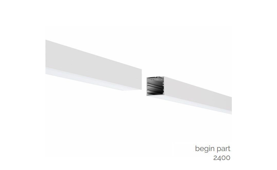 gaudi 70 lijnverlichting startdeel gependeld 2400mm 3000k 8610lm 70w fix