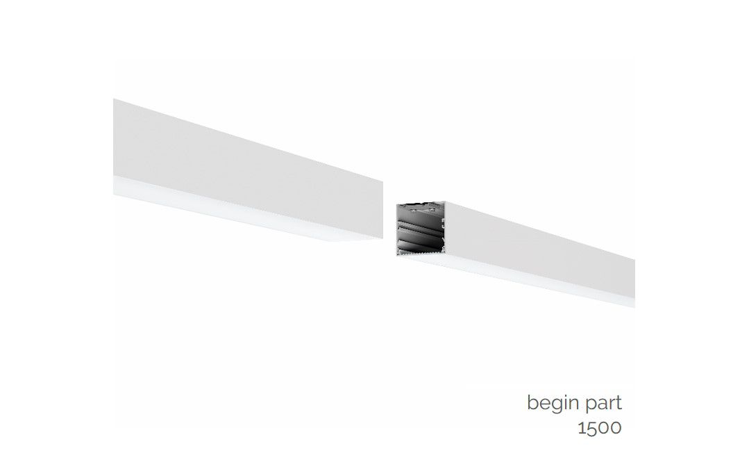 gaudi 70 lijnverlichting startdeel opbouw 1500mm 4000k 5725lm 40w dali