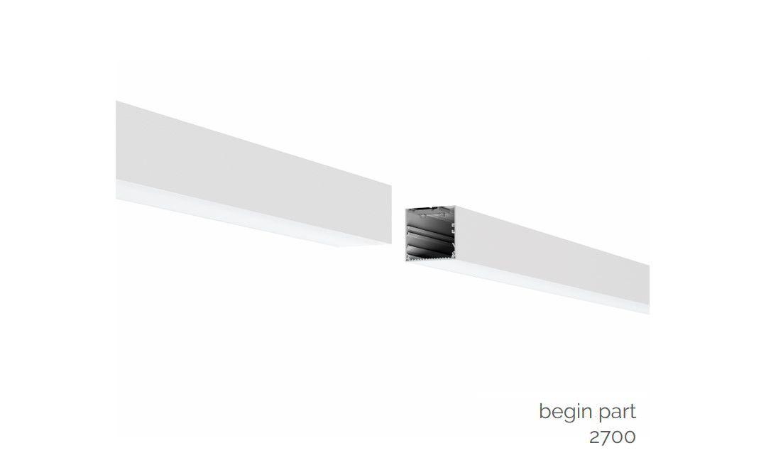 gaudi 70 lijnverlichting startdeel opbouw 2700mm 4000k 11449lm 80w fix