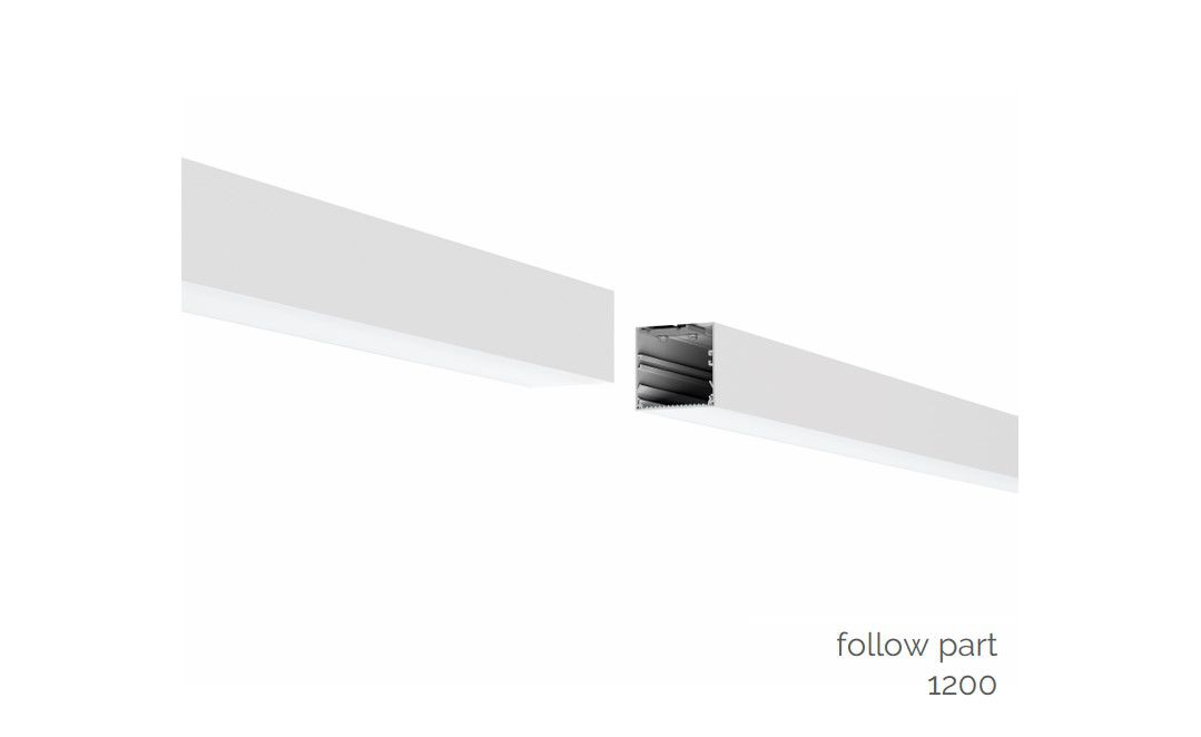 gaudi 70 lijnverlichting volgdeel gependeld 1200mm 3000k 4305lm 35w dali