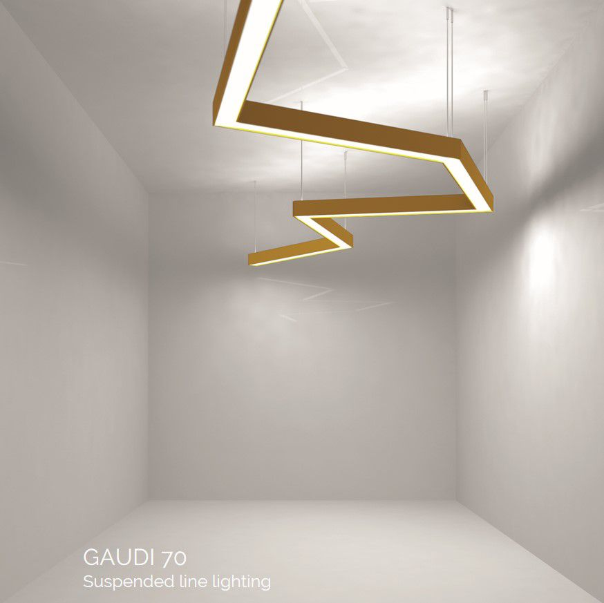 gaudi 70 line lighting directindirect first suspended 2400mm 3000k 14022lm 7040w fix