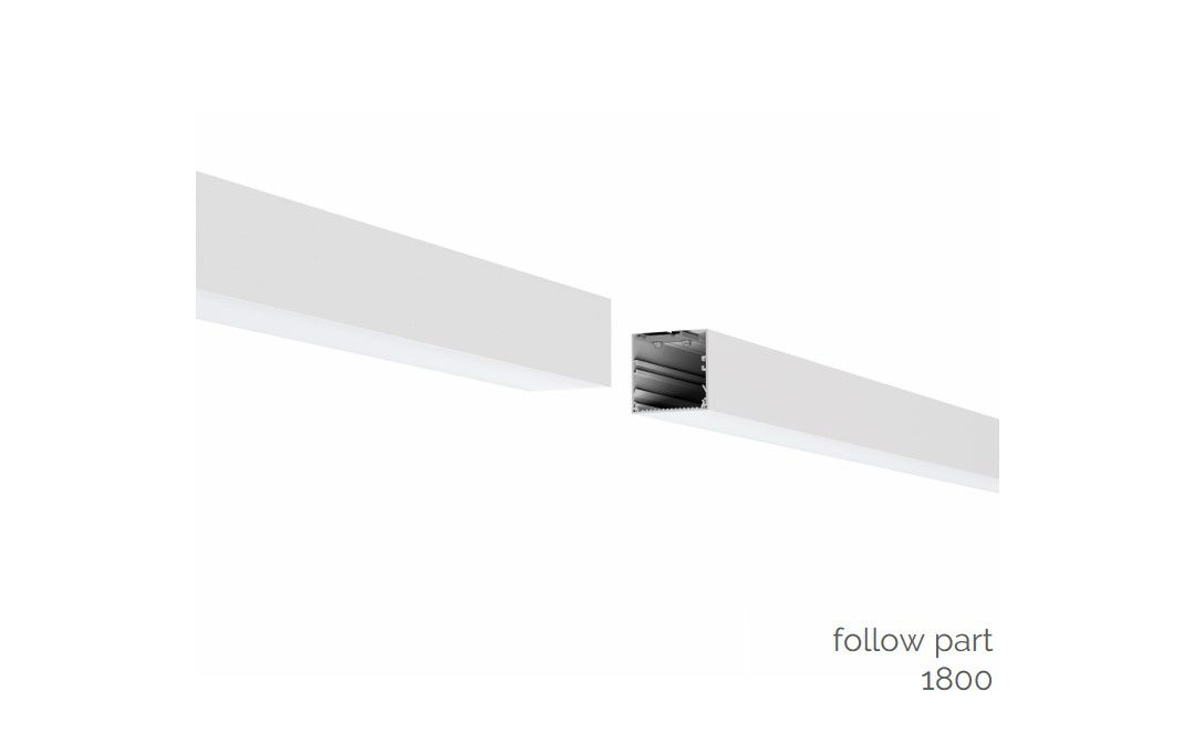 gaudi 70 line lighting directindirect follow suspended 1800mm 3000k 11685lm 5035w dali