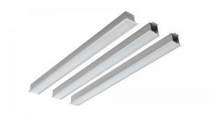 GAUDI 70, line lighting, end, recessed, 900mm, 3000k, 3229lm, 25w, fix