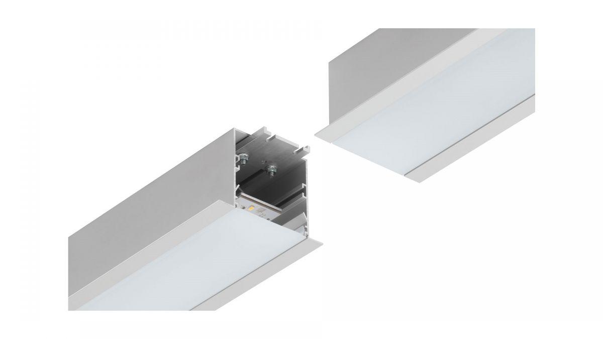gaudi 70 line lighting end recessed 900mm 4000k 3435lm 25w fix