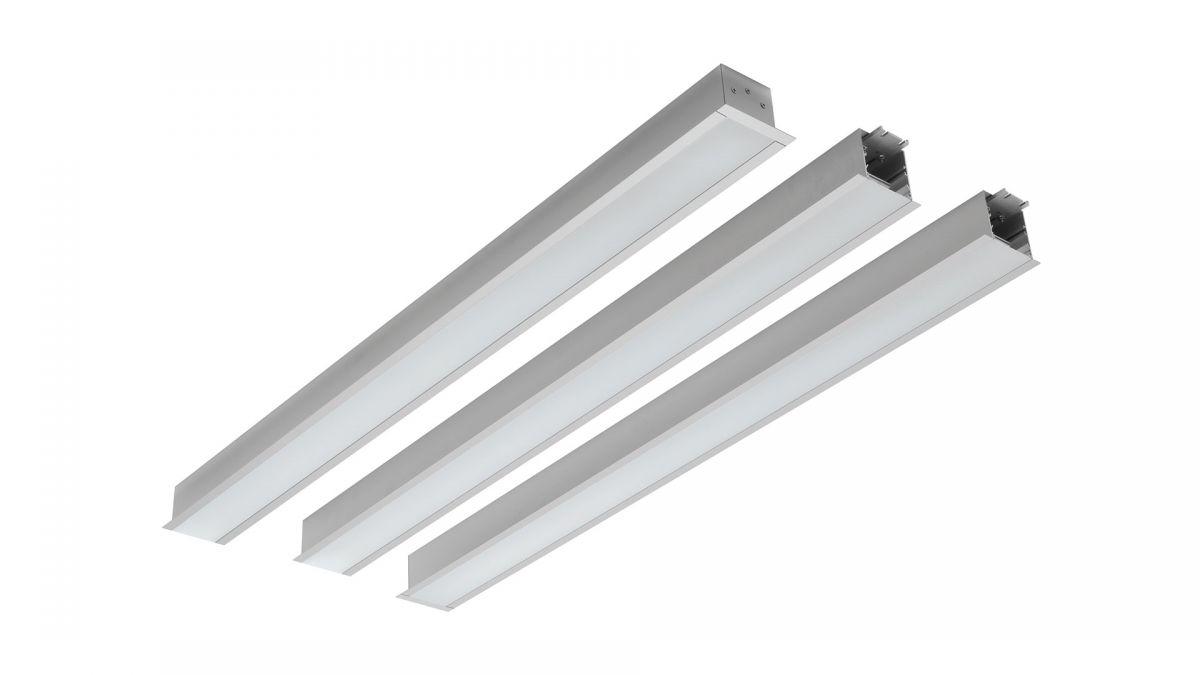 gaudi 70 line lighting end recessed 900mm 4000k 3435lm 25w dali