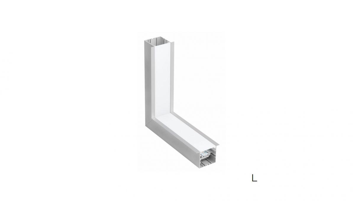 gaudi 70 line lighting inner joint l 90 recessed 340x340mm 3000k 2152lm 20w dali