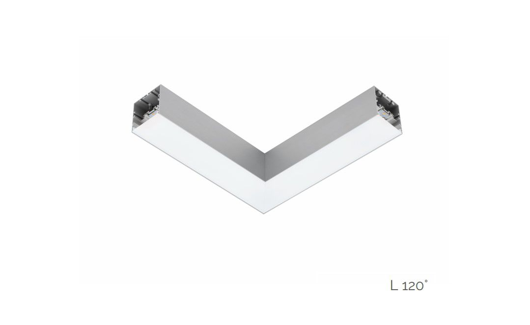 gaudi 70 line lighting joint l 120 surfaced 340x340mm 4000k 2290lm 20w fix