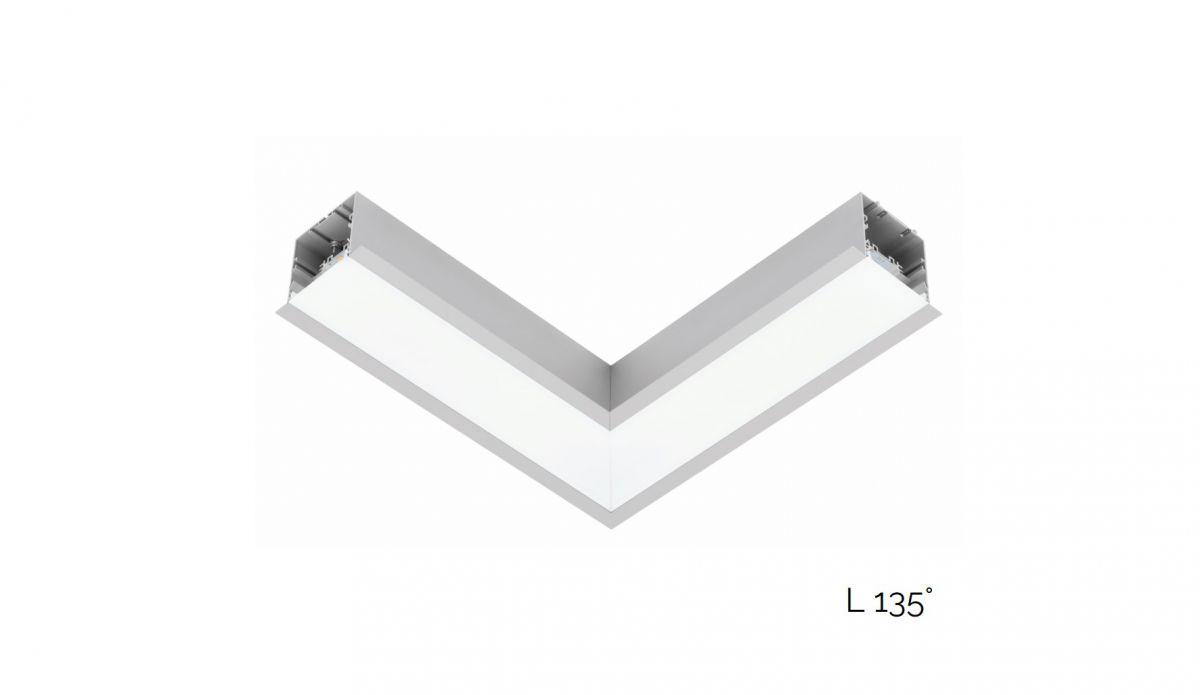 gaudi 70 line lighting joint l 135 recessed 340x340mm 3000k 2152lm 20w fix