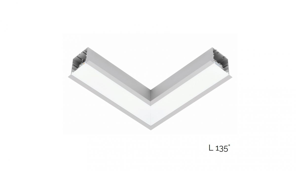 gaudi 70 line lighting joint l 135 recessed 340x340mm 4000k 2290lm 20w dali