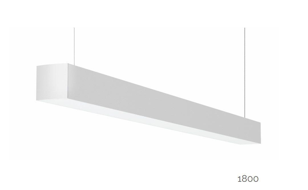 gaudi 70 line luminaire directindirect single suspended 1800mm 3000k 11685lm 5035w dali