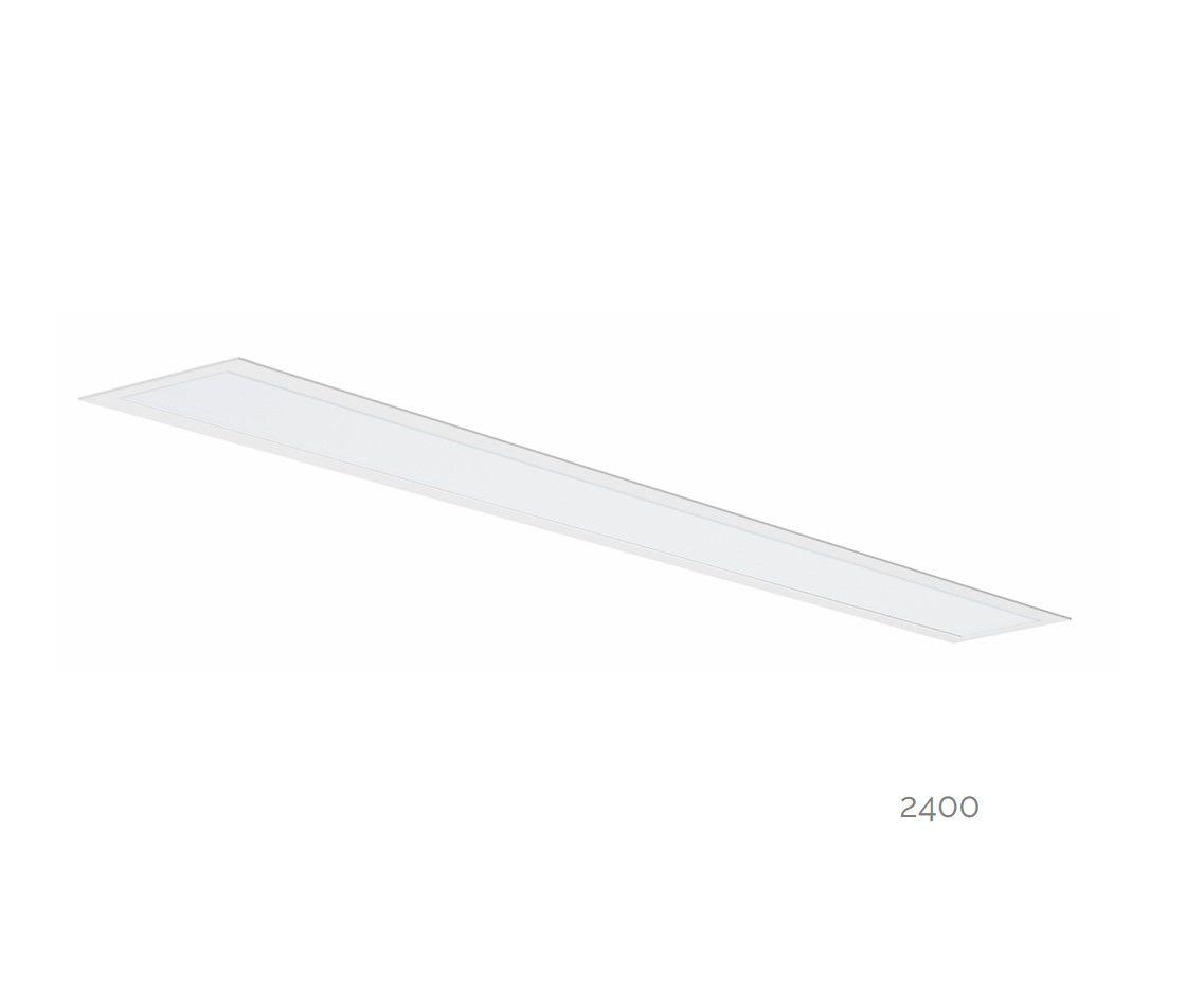 gaudi 70 line luminaire single recessed 2400mm 4000k 9159lm 70w dali