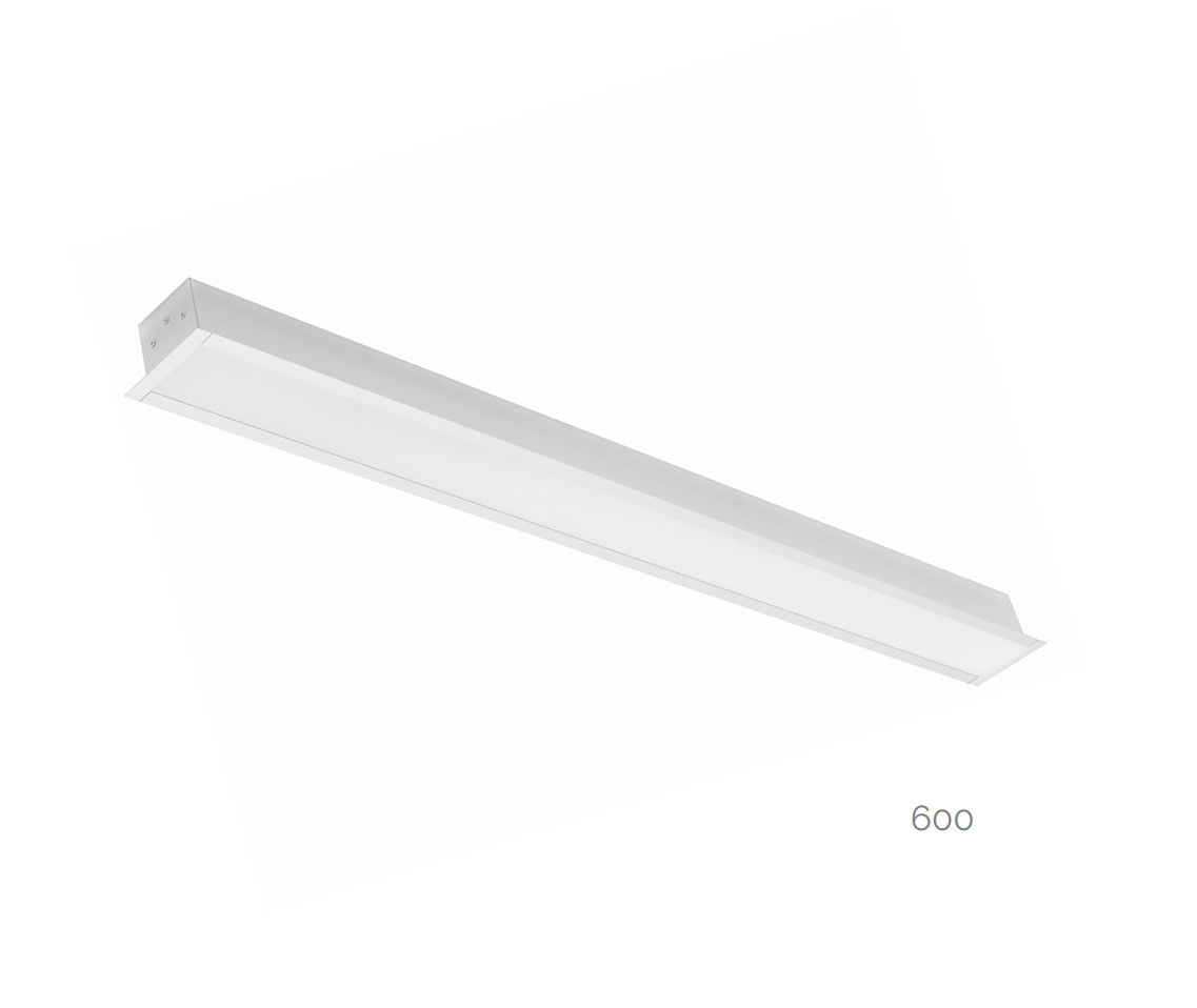 gaudi 70 line luminaire single recessed 600mm 4000k 2290lm 20w dali