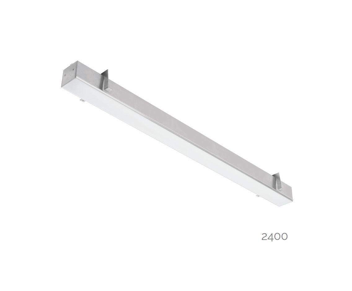gaudi 70 line luminaire single recessed trimless 2400mm 3000k 8610lm 70w dali