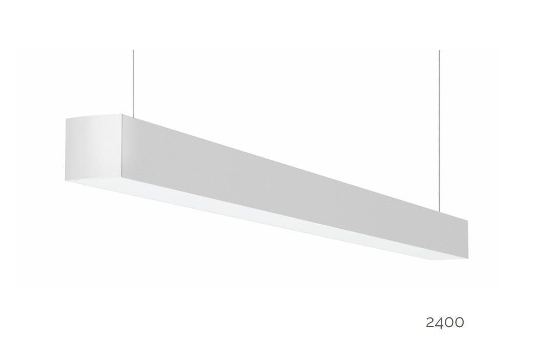 gaudi 70 line luminaire single suspended 2400mm 4000k 9159lm 70w dali