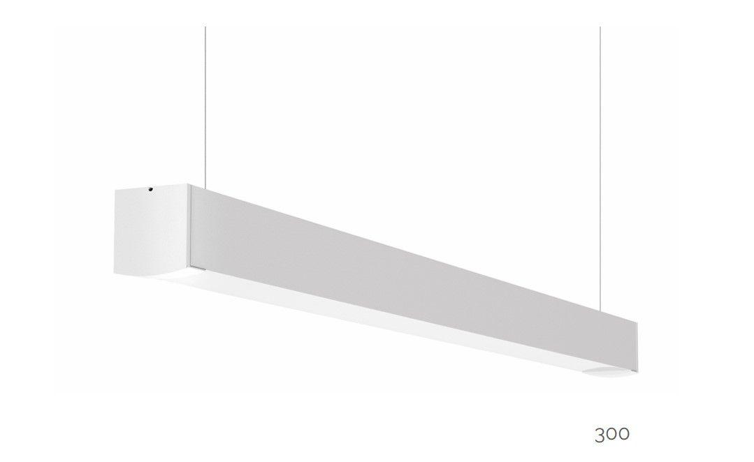 gaudi 70 line luminaire single suspended ip54 300mm 4000k 1145lm 10w dali