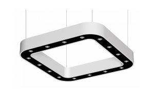 RINALDI cup, square luminaire suspended, 900x900mm, 3000k, 5531lm, 16x3w, dali