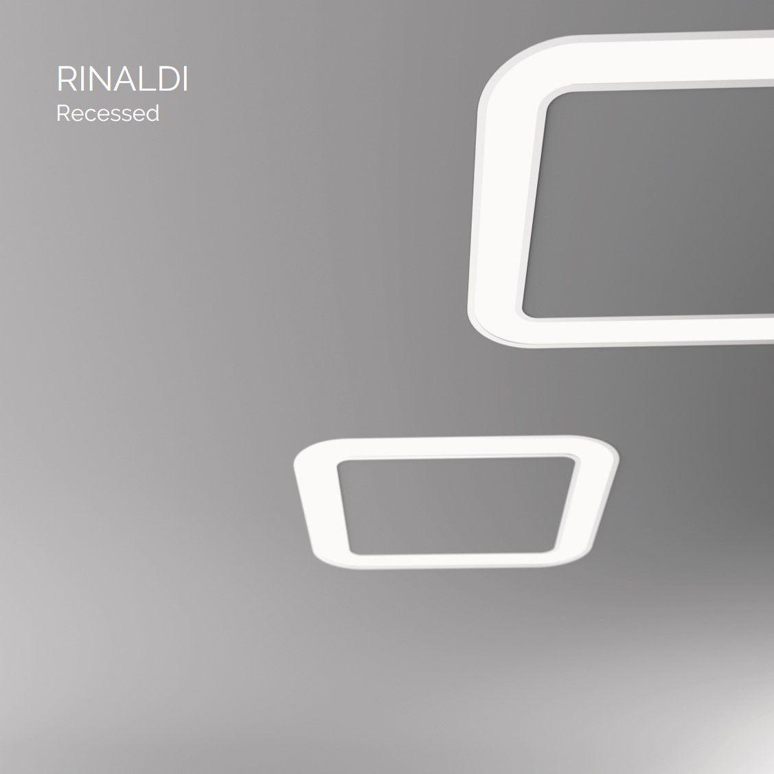 rinaldi inbouw armatuur vierkant 1200mm 3000k 10630lm 140w dali
