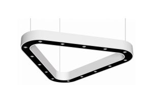 VITTONE cup, triangle luminaire suspended, 1200mm, 3000k, 5186lm, 15x3w, fix